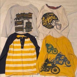 4t long sleeve shirts-trains, football, motorcycle